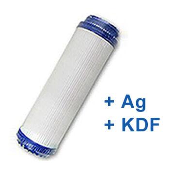 """GAC Silver aktívszén szűrőbetét 10 """" (Ezüst+KDF)"""