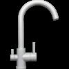 Kép 1/5 - Konyhai csaptelep víztisztítóhoz, 3-utas, CLASSIC-FEHÉR