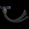 Kép 4/5 - Konyhai csaptelep víztisztítóhoz, 3-utas, CLASSIC-FEKETE