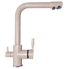 Kép 1/6 - Konyhai csaptelep víztisztítóhoz, 3-utas, BEIGE-MATT