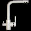 Kép 1/7 - Konyhai csaptelep víztisztítóhoz, 3-utas, Fehér-MATT