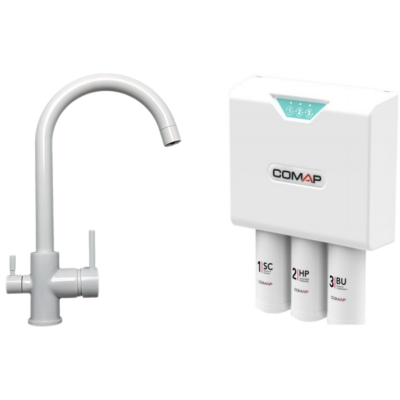 Comap Aquatis okos ultraszűrő víztisztító - 3 utas konyhai csapteleppel