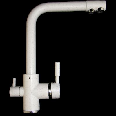 Konyhai csaptelep víztisztítóhoz, 3-utas, Fehér-MATT