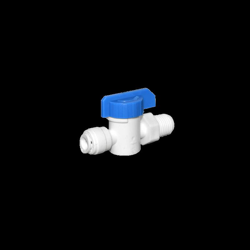 """Gyorscsatlakozós golyós csap, műanyag 1/4"""" KM x 1/4"""""""