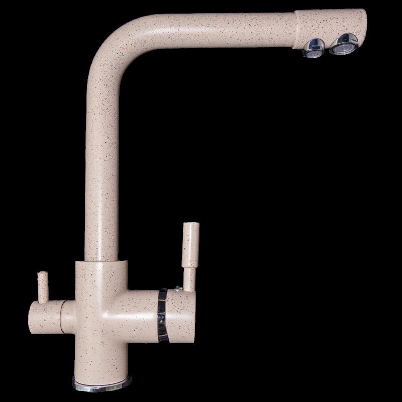 Konyhai csaptelep víztisztítóhoz, 3-utas, BEIGE-MATT