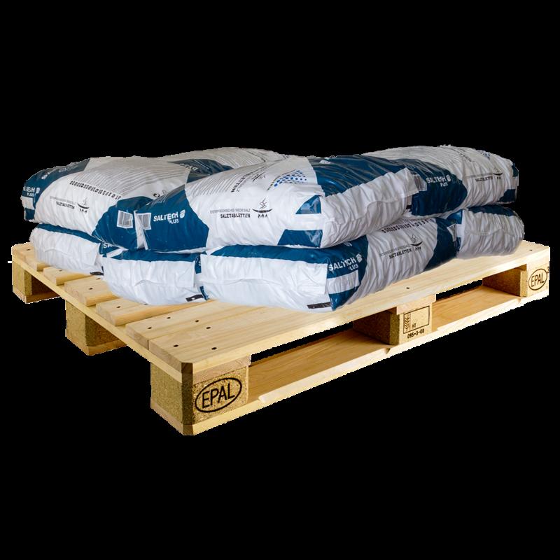 Regeneráló sótabletta 10 zsák (250 kg) - raklapos szállítással