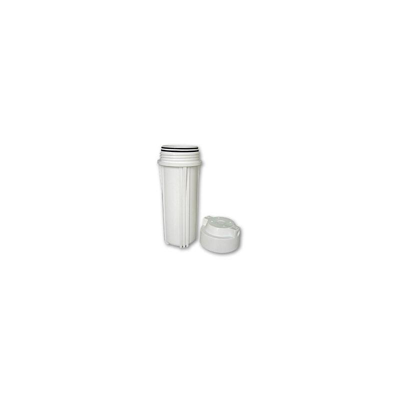 """Vízszűrő ház dupla O-gyűrű 10"""", 1/4"""", fehér (Aquafilter)"""