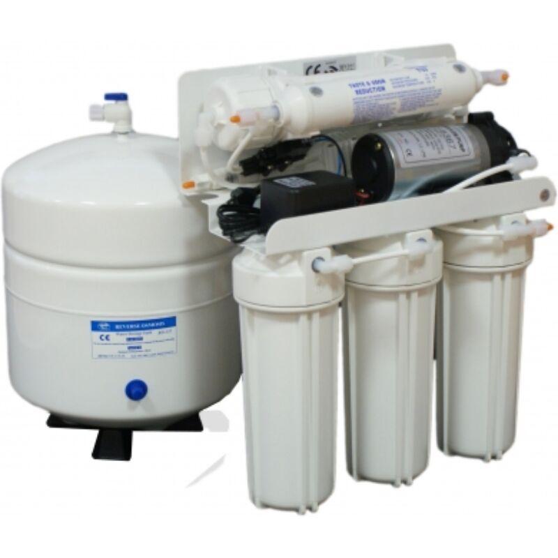 BlueClear-RO-50 Konyhai víztisztító visszasózó patronnal + nyomásfokozó szivattyúval